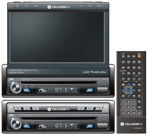 "GoGEN ACRM 7550 D, 7""LCD autorádio s CD/DVD/MP3"